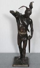 BRONZE SKULPTUR ANTIK ARMINIUS HERMANN DER CHERUSKER 41cm WARSAW U.S.A. ? POLEN
