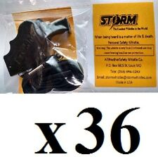 Storm whistle black with breakaway  lanyard  Pack of 36