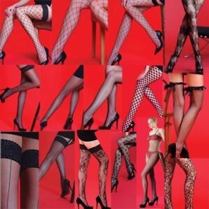 Quality Fishnet Tights Hold Ups Stockings Bodystocking Various Styles UK