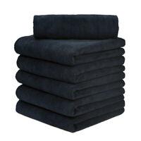 "6 pcs Edgeless microfiber towels cleaning towel plush 16x16"" 380 gsm lint free"