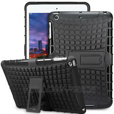Impact Resistant Dual Layer Case Cover Stand For Apple iPad 6 /Air 2 Heacy Duty