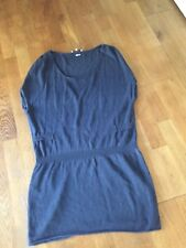 maje tunique - robe - T S bleu originale - lin et coton