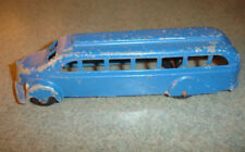Old Vtg Antique Collectible Diecast Metal Masters Co Toy Bus Made In USA Blue