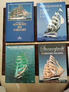 Windjammer, Segelschiffe, Bildbände, 11 Bücher