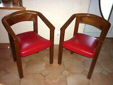 Paire de fauteuil chaise  Baumann  50  60  vintage de style art déco