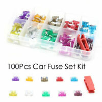 100Pcs Assorted Car Truck Low Profile Fuse Micro Blade Fuse Set Kit