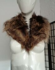 "MINT RACCOON RACOON FUR COLLAR WRAP SCAF WOMEN WOMAN SIZE 5"" X 36"""