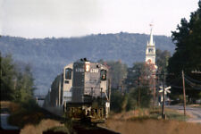 """Boston&Maine RR  BMRR 1741 East Andover NH   Halcyon station 1968  4x6"""" photo"""