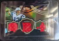 2006 TOPPS TRIPLE THREADS TOM BRADY GAME USED TRIPLE JERSEY PATRIOTS #15/27
