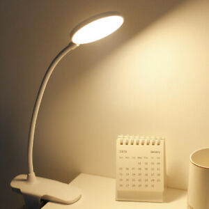 Dimmable Clip-On LED Desk Table Lamp Flexible Arm USB Reading Study Night Light