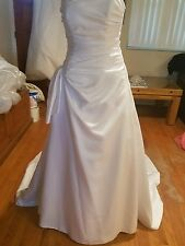 memories by maggie sottero wedding gown size 8 strapless white rouching front