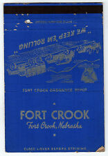 FORT CROOK Ordnance Depot NEBRASKA US ARMY NE MATCHBOOK Cover MILITARY Offutt