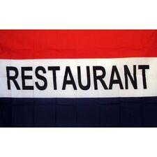 Restaurant Flag Banner Sign 3' x 5' Foot Polyester Grommets