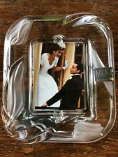 Mikasa Glass Picture Frame, Wedding Frame With Etched Tulip Flowers  Design New