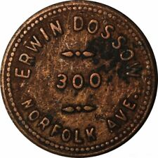 ERWIN DOSSOW NORFOLK NEB 5 CENT TRADE TOKEN!  FF719CXX