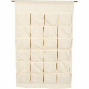 Advent Calendar Cotton 93cm x 60cm Large Hanging 24 Pockets Can Paint + Decorate