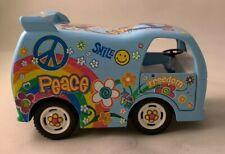 Dream Car Toy Die Cast Peace Model Van Kinsfun 4102 Blue Pull Back Action