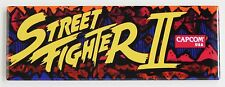 Street Fighter 2 Marquee FRIDGE MAGNET (1.5 x 4.5 inches) arcade video game