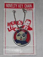 VINTAGE TOY PREVUE HERE'S LUCK PANDA BEAR NOVELTY KEY CHAIN GAME