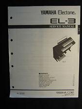 Yamaha Electone Organ EL-3 Service Manual Schematics Wiring EL3 Keyboard