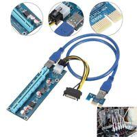 PCI-E 1 x to 16x USB 3.0 Extender Heber Stromkabel Grafikkarte Adapter 4-polig