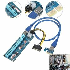 PCI-E 1x To 16x USB 3.0 Extender Riser Power Cable Graphics Card Adapter 4 Pins