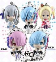 5Pcs/Set Re:Life in a Different World From Zero Ram Rem Keychain PVC Figure N B