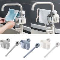 Kitchen Sink Faucet Sponge Soap Cloth Drain Rack Storage Organizer Holder Shelf