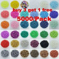 5000pcs Cezch Glass Seed Beads Jewelry Finding Spacer Beads 2mm Various Colors