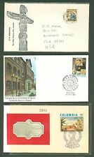 FDC AN81 Canada Colombia 3v Art