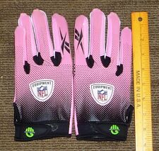 Saranac NFL Receiver Gloves Griptonite Pink Breast Cancer Awareness SZ XXL NEW