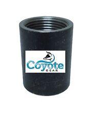 "Mild Black Steel 3/8"" Npt Pipe Thread Full Coupling Weld Bung 150# Coyote Gear"