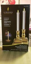 LUMINARA IVORY REAL FLAME-EFFECT CANDLE SET OF 2