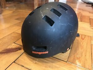 Mongoose Light Urban Hard-shell BMX Helmet for Scooter, Cycle, Black 51-55cm 🎁