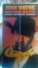 John Wayne Western Greats: StageCoach, Rio Bravo,The Searchers New VHS 3 Bundle
