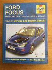 Haynes Workshop Manual Ford Focus 1998 To 2001