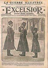 Tsar Nicholas II of Russia & Tsarevich Alexei Uniforme Cossacks Front WWI 1915