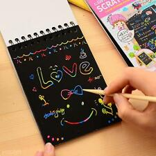 Hot Sell DIY Draw Sketch Scratch Note Cardboard Kids Stationery Toy Doodle Pad