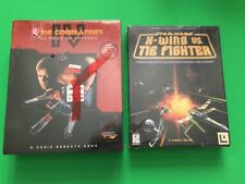 BRAND NEW Wing Commander IV and Star Wars X Wing Vs Tie Fighter Pc Big Box