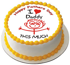 FATHERS DAY DAD DADDY 7.5 PREMIUM Edible RICE Cake Topper CAN PERSONALISED D1