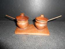 ANCIEN SALIERE POIVRIERE BOIS ART DE LA TABLE ASSAISONNEMENT CUISINE SEL POIVRE