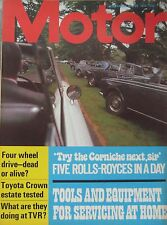 Motor magazine 29/7/1972 featuring Toyota Crown road test, TVR, Rolls Royce