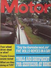 Motor magazine 29/7/1972 featuring Toyota Crown road test, TVR, Rolls Royce