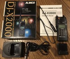 Alinco DJ-X2000 Wideband Communications Receiver Scanner Unblocked, 2x AA Cases