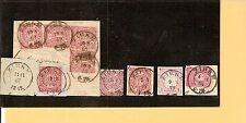 Preußen / ZIRKE 8 feinst-Kabinett-Stücke, dabei je K2 a. Blanko-Briefstück 1867