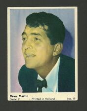 Dean Martin Scarce Vintage 1960s Dutch Film Stars Series F Card #19