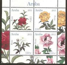 Aruba 2011 Roos Pioenroos Rose Peony MNH