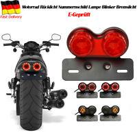 40W MOTORRAD ROLLER RÜCKLICHT RÜCKLEUCHTE BREMSLICHT & BLINKER 12V E-Geprüft Rot