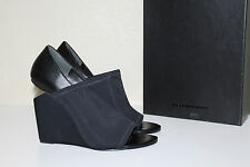 New sz 9 / 39 Alexander Wang Alla Black Stretch Cut out Wedge Heel Bootie Shoe