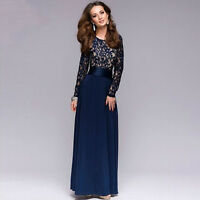 New Long Lace Bridesmaid Formal Gown Ball Party Cocktail Evening Prom Sexy Dress